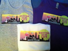 Customized 'Sex and the City' themed Bachelorette Tank Tops by boxd, $14.99
