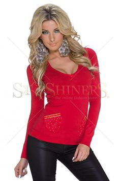Provocative Trend Red Sweater
