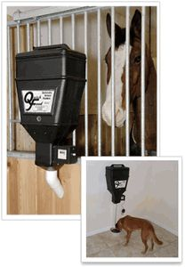 Quick Feed Automatic Electronic Timed Horse and Pet Feeders... shut the front door
