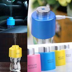 "Specifications: Bottle Lid: 7.5cm/2.9"" , height: 6cm/2.3"" Absorbent Cotton Length: 12cm/4.7"" , Perimeter: 3cm/1.2"" Cable Length: 62cm/24.4"" , Width: 1.5cm/0.6"" Material: ABS Voltage: DC 5V Colour: yellow, pink, white, blue"