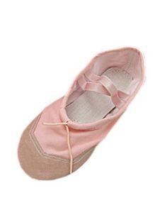 Pair Weiche rosa Girls´ Tanzen Tanz-Ballett-Schuhe Größe 12 Leinwand neu de - http://on-line-kaufen.de/sourcingmap/pair-weiche-rosa-girls-tanzen-tanz-ballett-schuhe