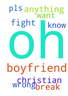 Oh lord I'm praying to my boyfriend - Oh lord Im praying to my boyfriend we both Christian But I dont know he want break up with me. We dont fight I did not do anything wrong pls pray for me.  Posted at: https://prayerrequest.com/t/Kzo #pray #prayer #request #prayerrequest