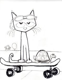 Meet Pete, the cat who makes learning fun! This famous series is loved by almost all the kids. So here we give 10 free printable pete the cat coloring pages Cat Coloring Page, Animal Coloring Pages, Coloring Sheets, Book Activities, Preschool Activities, Summer Activities, Memorial Day, Pete The Cats, Cat Clipart