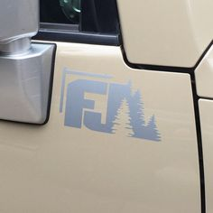 "Toyota FJ Curser ""FJ"" with Trees Decal"