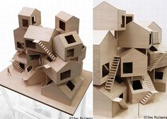 Collective Housing Project - Sou Fujimoto Exterior View (Model) #architecture #architecturaldesign #modern