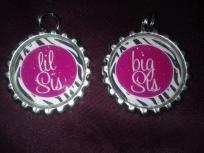 Big sis, Lil sis bottlecap jewelry