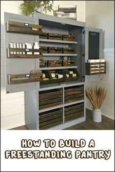 Add space convenience with a simple diy pantry pinterest a freestanding pantry for small spaces solutioingenieria Choice Image