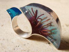 Vania Ruiz: found sea weed, coloured resin and silver