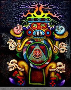 Aztec pachamama tlaloc