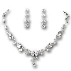 Silver-Tone Cubic Zirconia Vine Pattern Necklace Earring Bridal Set Melissa Kay Collection http://www.amazon.com/dp/B00JLWAMOM/ref=cm_sw_r_pi_dp_7cyivb12194JD