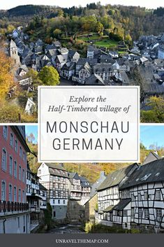 Nestled along the Rur River valley among verdant hills, the quaint town of Monshau, Germany features wonderfully preserved half-timbered houses, narrow cobble lined streets and a relaxed atmosphere to soak it all in.