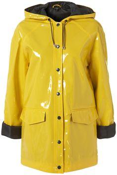 yellow vinyl raincoat