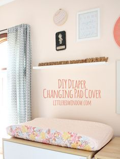 DIY Diaper Changing Pad Cover - Little Red Window 25 Sewing Projects for the Home – Crazy Little Projects Easy Sewing Projects, Sewing Projects For Beginners, Sewing Hacks, Diy Projects, Sewing Ideas, Sewing Patterns, Fabric Storage Baskets, Diy Diapers, Diy Baby Headbands