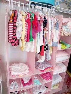 DIY Nursery « Spearmint Baby  Great idea for baby's closet.