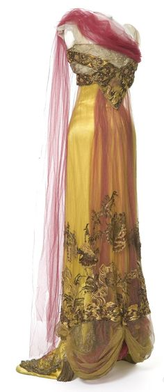 Fripperies and Fobs, Callot Soeurs evening dress, 1907-10 From Les Arts Décoratifs via Europeana Fashion