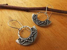 Mandala Earrings. Silver Mandala Earrings. Boho por PuntoPausa