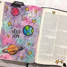 I finally broke in my new interleaved bible that my beautiful friend Got me I journaled in and / bridgett. Scripture Art, Bible Art, Bible Quotes, Bible Verses, Bible Drawing, Bible Doodling, Bibel Journal, Bible Study Journal, Art Journaling