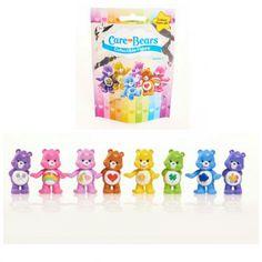 Lot of 9 - Care Bears Blind Bag Packs of Collectible Figures Series 1 by Just Play (Sealed Packs) - Possible Figures include:  Funshine Bear, Cheer Bear, Harmony Bear, Best Friend Bear, Goodluck Bear, Grumpy Bear, Share Bear, & Tenderheart Bear.