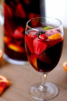 Blood Orange Blackberry Sangria, with Sparking Apple Cider | Fabtastic Eats