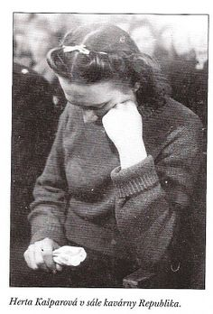 Herta Kašparová, hanged at the age of 23 in Czechoslovakia in 1946 for collaborating with the Nazis.