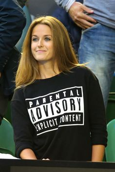 During the Australian Open, Kim Murray wore a Parental Advisory top that poked fun at the fact she'd been caught shouting profanities during a previous match.