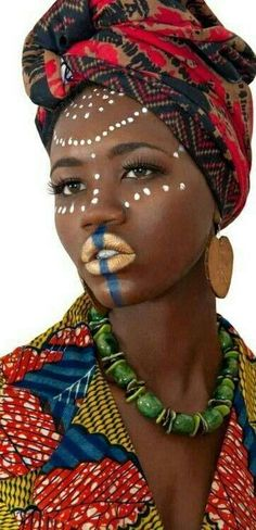 African fashion which looks stunning African Fashion Designers, African Men Fashion, Africa Fashion, African Women, African Tribal Makeup, African Beauty, African Style, African Face Paint, African Tattoo