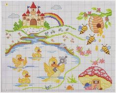 Σχέδια για κεντήματα για παιδικά σεντόνια, Embroidery designs for children's sheets, Diseños de bordado para las hojas de los niños, Stickmuster für Kinderbettlaken ,