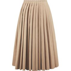 Acne Studios Kensington pleated faux suede midi skirt (23.375 RUB) ❤ liked on Polyvore featuring skirts, beige, accordion skirt, faux suede midi skirt, mid calf skirt, beige midi skirt and calf length skirts