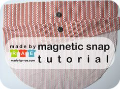 Tutorial for installing a magnetic snap in the lining of a handbag.  Great alternative for a zipper closure.