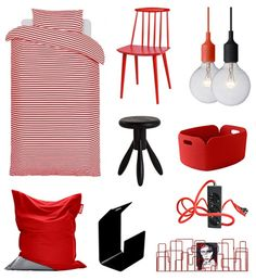Decorate christmas with red and black