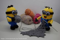 crocheting minions I have a pattern for them. http://wolfdreamer-oth.blogspot.com/2010/07/despicable-minion.html