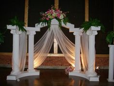 pictures of wedding columns decorated   ... columns, grecian ...