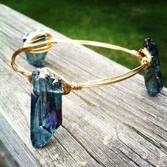 The Presley Handmade wire wrapped bangle with by BlueEyedBangles, $18.00