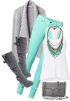 Color me happy! Jeansoutfit in Mit und Grau  (Farbpassnummer 7 und 18) Kerstin Tomancok Farb-, Typ-, Stil & Imageberatung