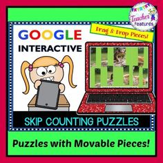 Skip Counting by 2s, 5s & 10s for Google Classroom: Animal Puzzles