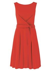 Francesca Bow Dress Red