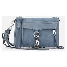 Rebecca Minkoff Women's Mini M.A.C. Cross Body Bag with Guitar Strap -... (21.010 RUB) ❤ liked on Polyvore featuring bags, handbags, shoulder bags, blue crossbody, mini shoulder bag, blue handbags, guitar-strap handbags and blue crossbody purse