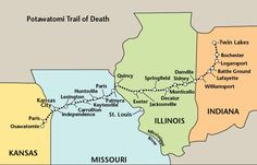 Indian Removal Act - Potawatomi Trail of Death ends November 4, 1838
