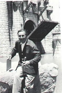 Walt Disney; Disneyland's opening day, July 17, 1955