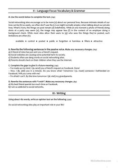 SOCIAL MEDIA - grade test - English ESL Worksheets for distance learning and physical classrooms Math Practice Worksheets, Grammar Activities, Grammar Worksheets, Printable Worksheets, Printables, Grade Spelling, Spelling Lists, Spelling Words, English Lesson Plans