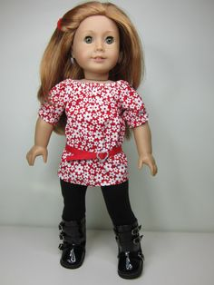 American girl doll clothes Red and white by JazzyDollDuds on Etsy