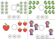 Symboolkennis kleiner dan, is gelijk aan, groter dan Math For Kids, Lessons For Kids, Fun Math, Math Lessons, Kids Math Worksheets, Preschool Activities, Kindergarten Math, Teaching Math, Fractions