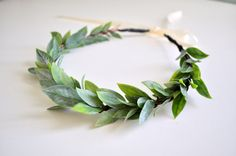 Natural Wedding Crown Flower Hair Crown Greek Goddess by KimArt, $38.00