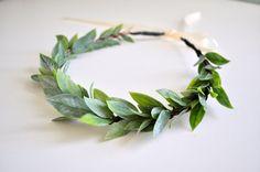 Natural Wedding Crown Flower Hair Crown Greek Goddess by KimArt, $38.00