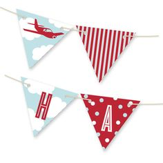 'The Birthday Plane Bunting Banners', on Minted.com