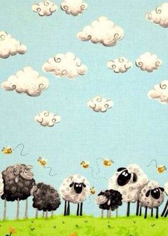 Cute Sheep Wallpaper