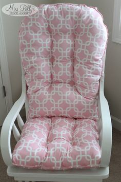 Gliders, Rocking chair cushions and Chair cushions on Pinterest