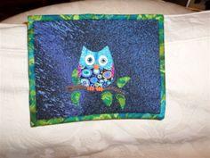 Spangleydragonfly - owl mug rug