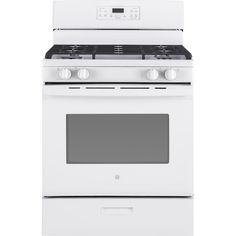 GE 4 Burners ft Self-Cleaning Freestanding Gas Range (White) (Common: Actual: at Lowe's. Your GE 30 in. Gas Range with Self-Cleaning oven in White has a Precise Simmer burner to allow cooking of delicate foods with low, even heat. Cleaning Oven Racks, Self Cleaning Ovens, Steam Cleaning, Kitchen Items, Kitchen And Bath, Kitchen Dining, Food Temperatures, Single Oven, Gas Oven