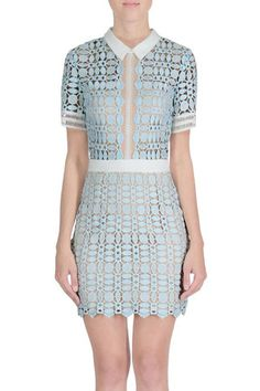 Alice Woven Lace Dress with Collar